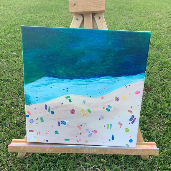 🌾 Beach Aerial View Painting 12 x 12